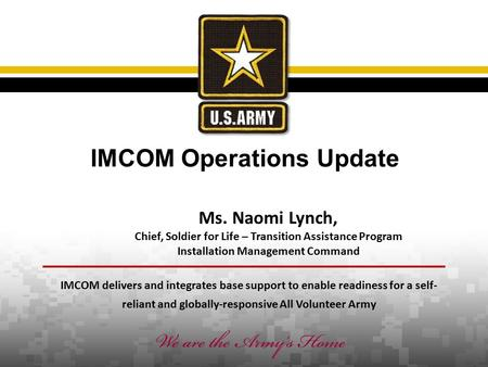United States Army's Family and MWR Programs