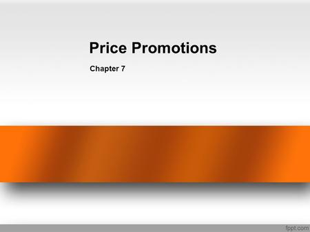 Price Promotions Chapter 7.