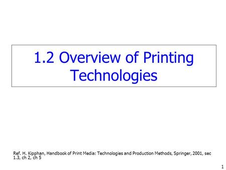 handbook of print media technologies and production methods pdf