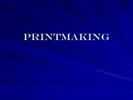Printmaking. The history of the relief print is the history of people's desire to communicate information, first through symbols and later through images.