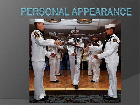 military appearance and uniform