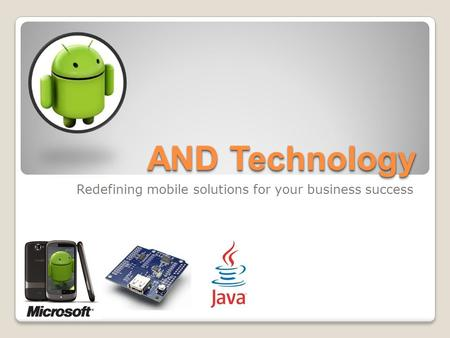 AND Technology Redefining mobile solutions for your business success.