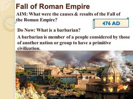 the political economic and military causes of the fall of the roman empire