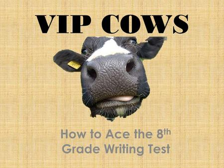 How to Ace the 8th Grade Writing Test