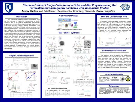 Characterization of Single-Chain Nanoparticles and Star Polymers using Gel Permeation Chromatography combined with Viscometric Studies Ashley Hanlon, and.