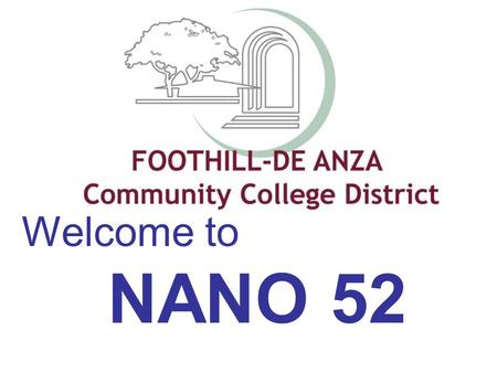 Welcome to NANO 52.