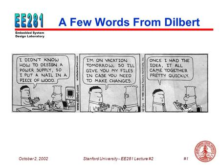 A Few Words From Dilbert