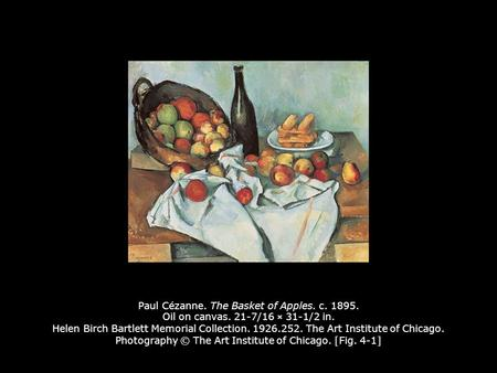 Paul Cézanne. The Basket of Apples. c Oil on canvas