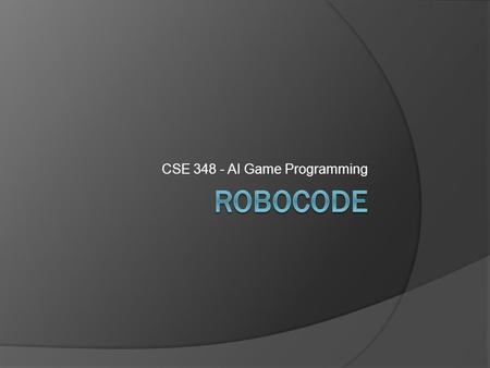 CSE 348 - AI Game Programming. Installation 