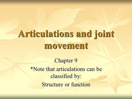 joints notes marieb Human anatomy & physiology laboratory manual 10th edition pdf  elaine n marieb isbn 0  joint structure and function: a comprehensive analysis, edition by .