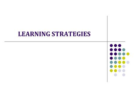 "LEARNING STRATEGIES. The Framework Educational Programme (RVP) elementary education is ""to enable pupils to become familiar with learning strategies and."