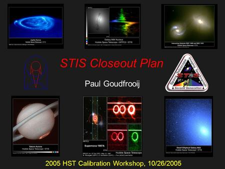 STIS Closeout Plan Paul Goudfrooij 2005 HST Calibration Workshop, 10/26/2005.