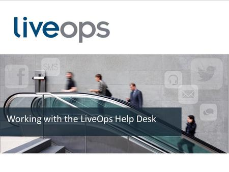 Working with the LiveOps Help Desk