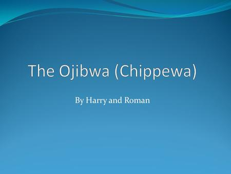 By Harry and Roman The Ojibwa lived close to woodlands or the Great Lakes. The blue squares are reservations.