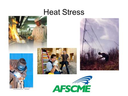 Heat Stress. 4 Environmental Factors: –temperature –humidity –radiant heat –air velocity Human factors –age –weight –sex –fitness and medical condition.