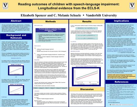 Many children with speech-language impairment will have difficulty with reading. Even those children who begin kindergarten with adequate early literacy.