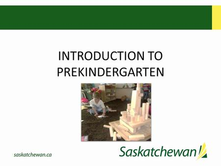 INTRODUCTION TO PREKINDERGARTEN. Welcome Powerpoint content: Background to Prekindergarten Before you proceed please have the following items with you: