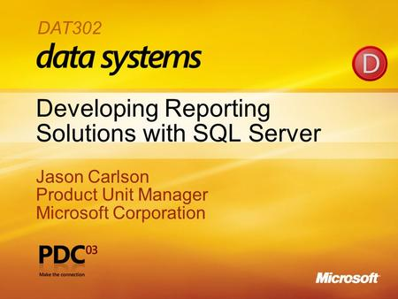 Developing Reporting Solutions with SQL Server