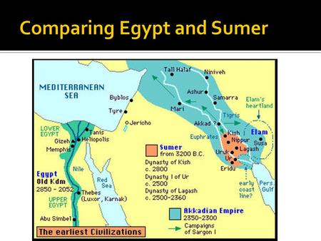 a comparison of the ancient egypts civilization and sumerians