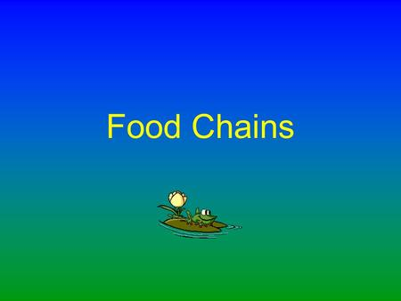 Food Chains A food chain tells us what is eaten by what in an ecosystem.