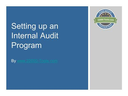 Setting up an Internal Audit Program By www.22000-Tools.comwww.22000-Tools.com.