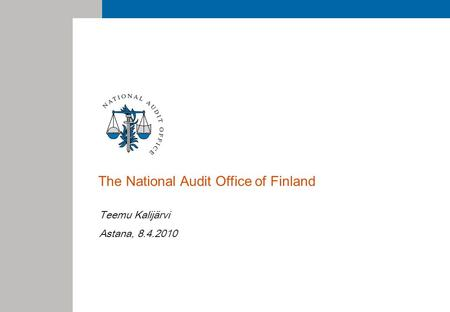 The National Audit Office of Finland