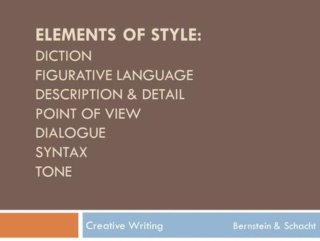 definition creative writing