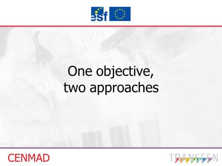 One objective, two approaches. Content – comparison of projects Aim of the project Consortium Recruitment of target groups Beneficiaries - course participants.