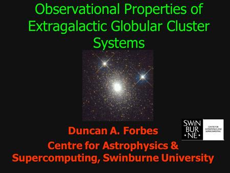 Observational Properties of Extragalactic Globular Cluster Systems