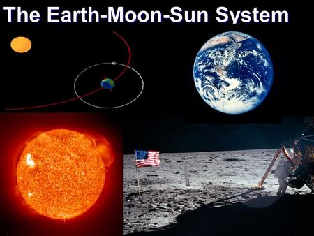 The Earth-Moon-Sun System. The Earth has a few different motions associated with it. The two main motions are rotation and revolution. Rotation is the.