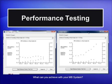 Performance Testing What can you achieve with your MB System?