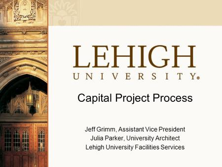 Capital Project Process