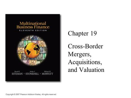 CROSS-BORDER MERGERS AND ACQUISITIONS (Finance)