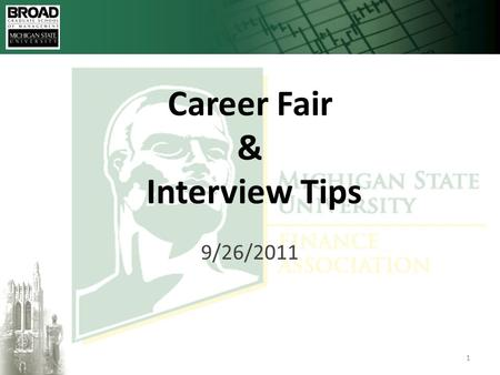 Click to edit Master title style 10/3/20151 Career Fair & Interview Tips 9/26/2011.