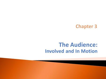 The Audience: Involved and In Motion.  Discusses various types of audience participation in the journalistic process, from acting as sources to citizen.