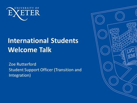 International Students Welcome Talk