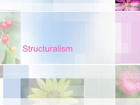 Structuralism. Emile Durkheim Emile Durkheim (1858-1917). Considered one of the founding sociologists and the founder of structuralism and functionalism.