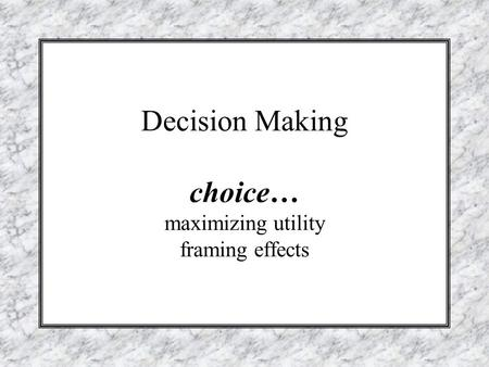 essay on making choices Essay on relationship between critical thinking and decision making critical thinking and decision-making are the most intricate parts of solving problems without it, we cannot begin to evaluate someone's reasoning or grasp the rational being offered for acceptance as a point of view.