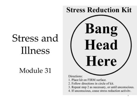 1 Stress and Illness Module 31. QR code for SG 29 30 31 32 2.