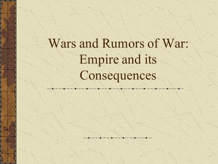 A rumor of war the changes