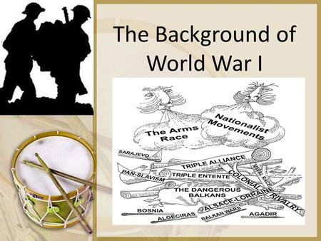 The Background of World War I. M.A.I.N. M= Militarism government policy of investing in military, strengthening armed forces, and pursuit of military.