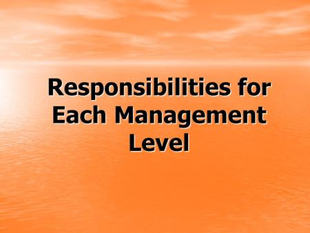 Responsibilities for Each Management Level. District Manager Responsibilities Stay in Contact with all of your business builders in your central district.
