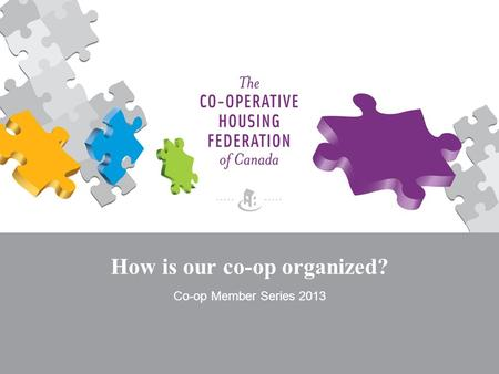 How is our co-op organized? Co-op Member Series 2013.