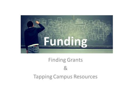 Funding Finding Grants & Tapping Campus Resources.