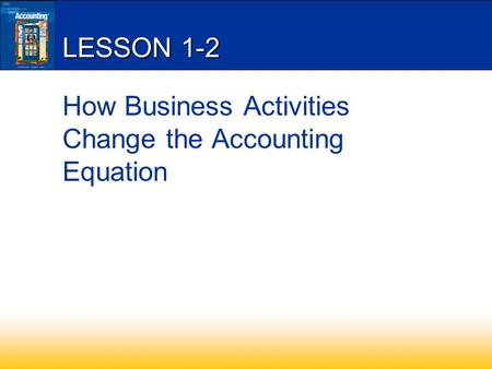 LESSON 1-2 How Business Activities Change the Accounting Equation.