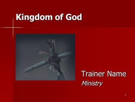 "1 Kingdom of God Trainer Name Ministry. 2 What is The Gospel? What does ""Gospel"" mean? What does ""Gospel"" mean? According to Jesus According to Jesus."