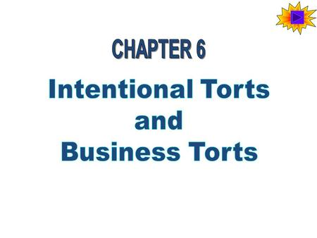 "Tort Means ""Wrong"" Defamation -- making a false statement about someone - written or verbal Negligence -- performing wrong surgery Interference with contract."