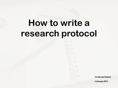 how to write a protocol document