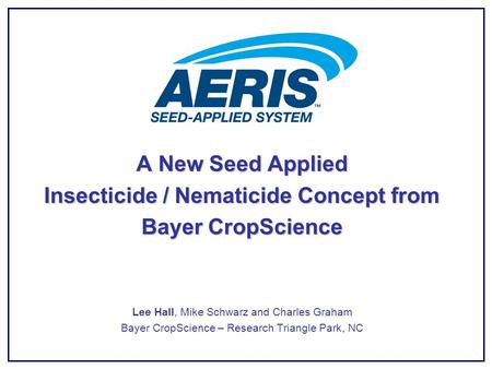 Insecticide / Nematicide Concept from