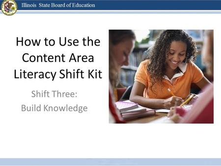 How to Use the Content Area Literacy Shift Kit Shift Three: Build Knowledge.